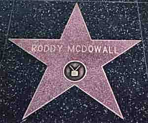 Roddy McDowall Walk of Fame Star